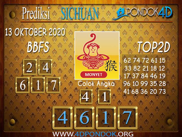 Prediksi Togel SICHUAN PONDOK4D 13 OKTOBER 2020
