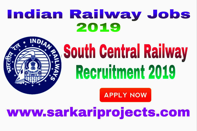 South Central Railway Recruitment 2019 for 21 Sports Quota Posts