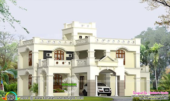 339 Sq-M Colonial home design