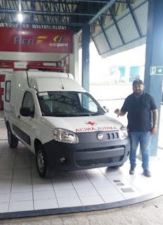 Mais uma ambulância chegando a Picuí para reforçar a frota da SMS