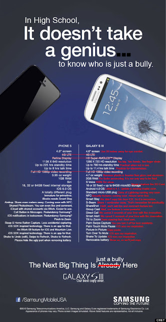 In high school it doesn't take a genius - Samsung vs iPhone 5