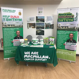 MacMillan cancer support banners and stall