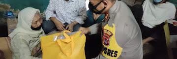 Kapolres Cilegon Turun Langsung Berikan Bantuan Kepada Satu Keluarga yang mendertita Lumpuh