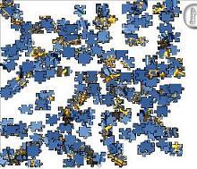 las piezas están desordenadas