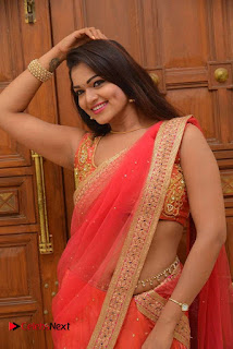 Actress Ashwini Latest Pictures in Red Half Saree  0013