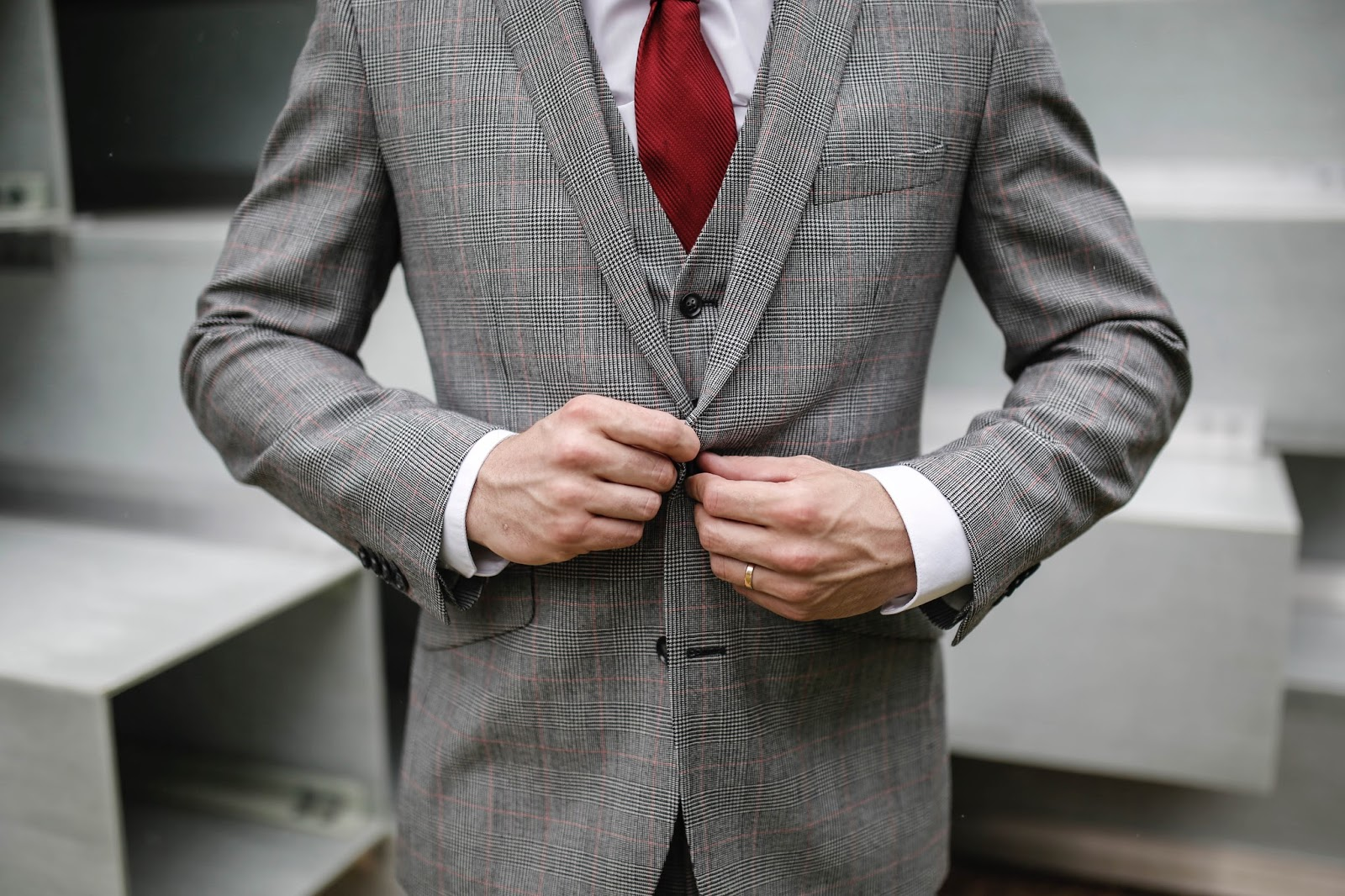 Moss Bros Tailor Me Grey Check Suit