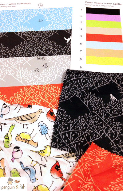 print & pattern: FABRICS - penguin & fish