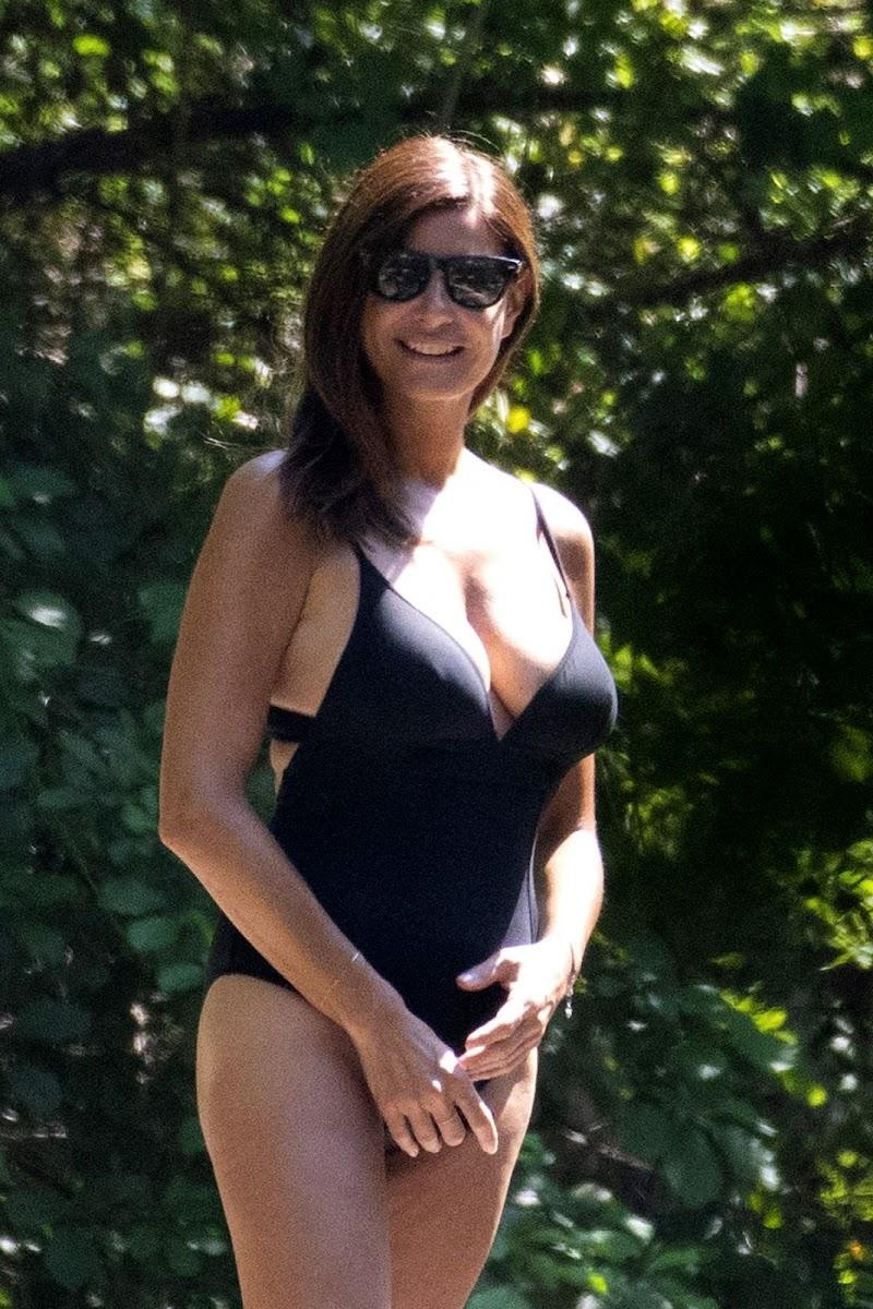 Ilaria D'Amico Clicked in Swimsuit at a River in Treschietto 11 Aug -2020