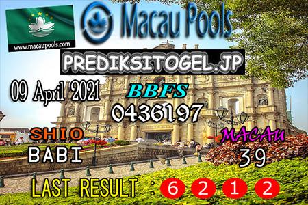 Prediksi Wangsit Togel Macau Jumat 09 April 2021