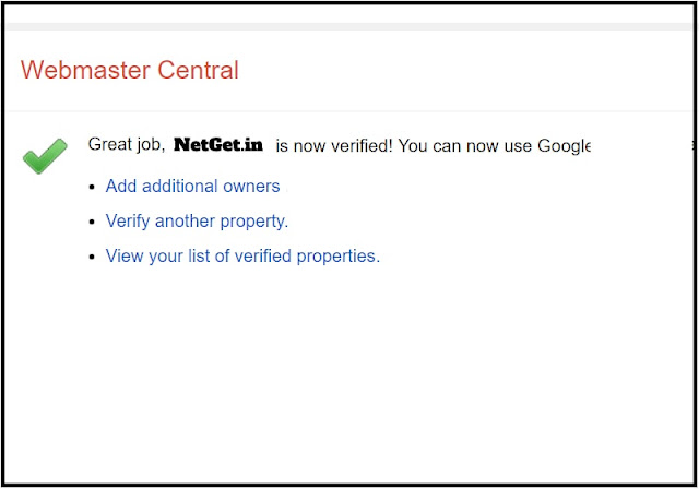 Verify your domain in google webmaster center
