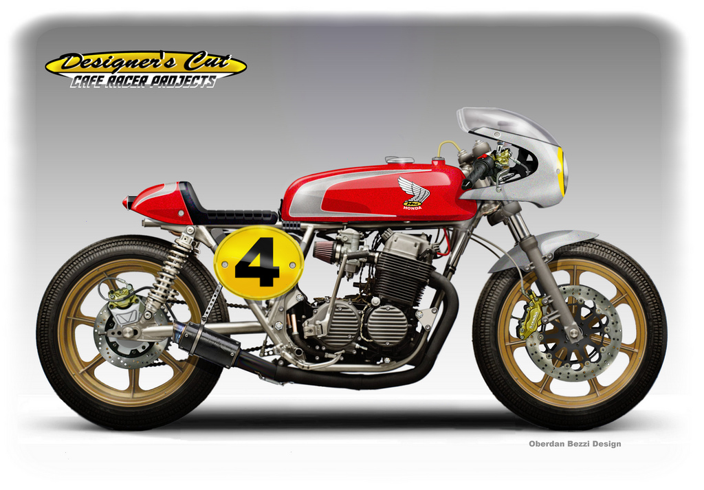 racing caf caf racer concepts honda cb 750 fab four. Black Bedroom Furniture Sets. Home Design Ideas