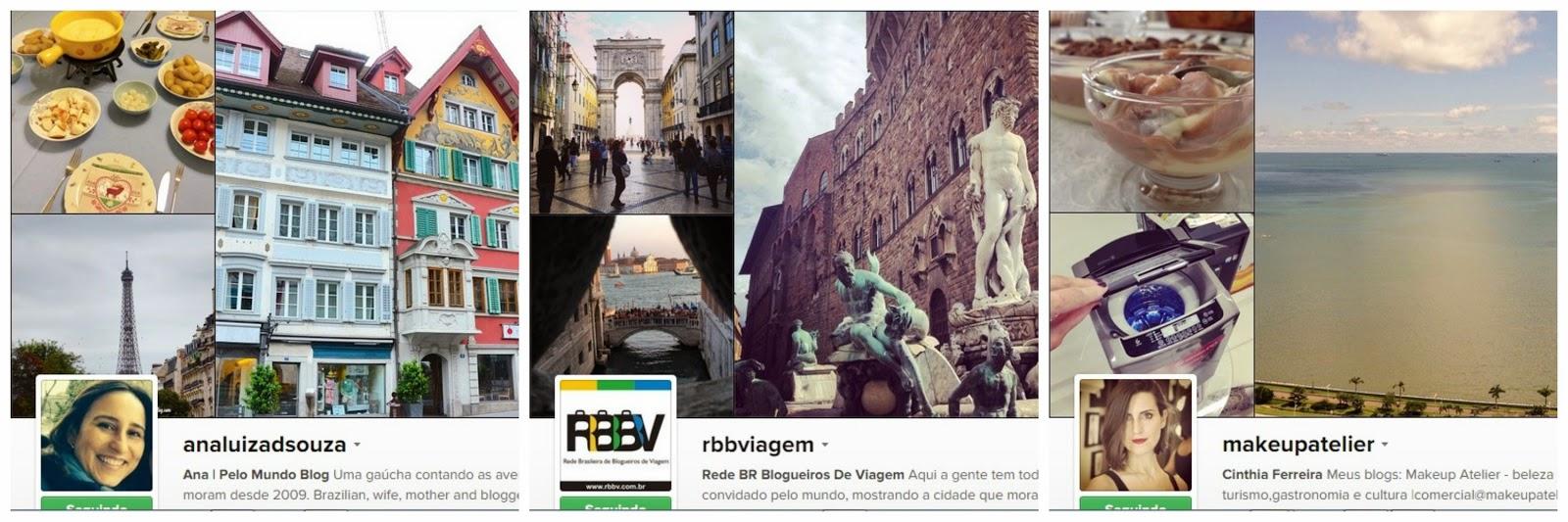Instagrams de viagem que recomendo