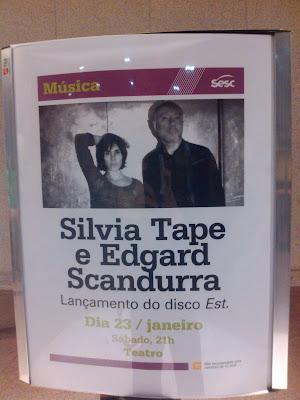 """Edgard Scandurra & Silvia Tape fazem show de lançamento do disco """"EST"""""""