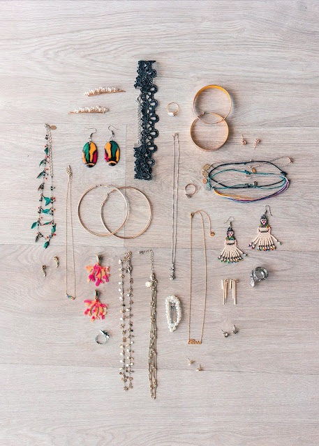 Pretty pieces of jewelry on flatlay.