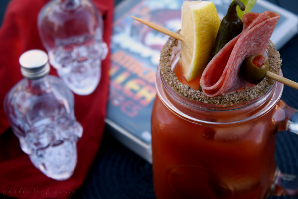 <b>Spicy Crystal Head Bloody Mary</b> <i>inspired by Attack of the Killer Tomatoes</i> {food 'n flix}