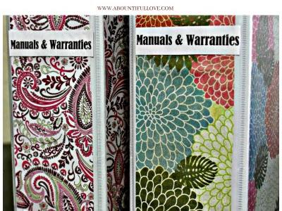 Manuals & Warranties Organization