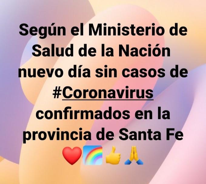 Sin nuevos casos de contagiados de Coronavirus en Santa Fe