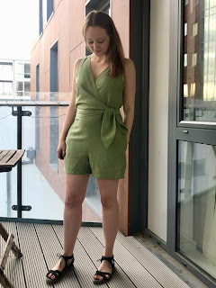 Leaf Green Linen Sierra Jumpsuit