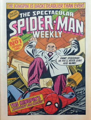 spectacular spider-man weekly #353, the kingpin
