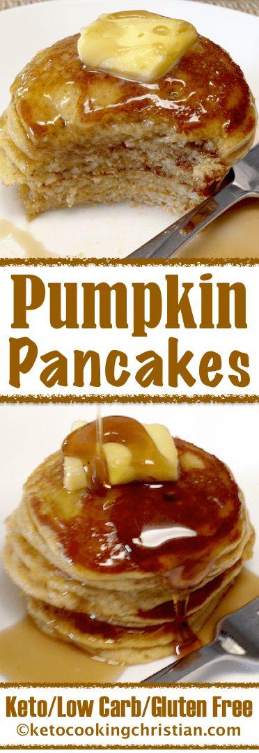 Pumpkin Pancakes – Keto, Low Carb & Gluten Free