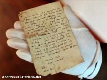Notas escritas por Martín Lutero