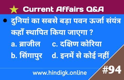 9 February 2021 Current Affairs In Hindi
