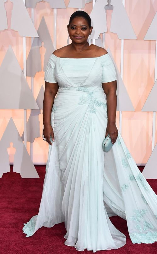 Octavia Spencer in Tadashi Shoji at the Academy Awards 2015