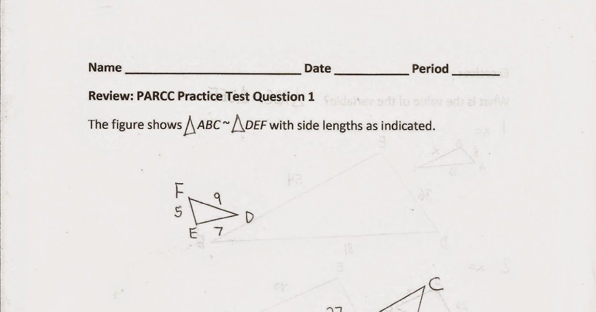 Geometry, Common Core Style: PARCC Practice Test Question 1 (Day 146)