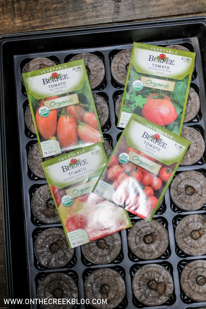 Seed Starting // tomato varieties planted | On The Creek Blog