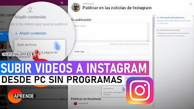 subir videos a instagram pc