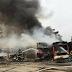 Incêndio destrói mais de 40 ônibus em pátio em São Paulo