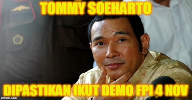 Hasil gambar untuk tommy soeharto bersama fpi