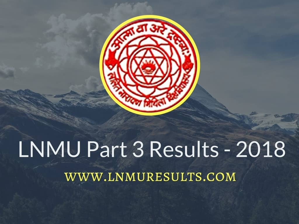 LNMU Part 3 Result 2018