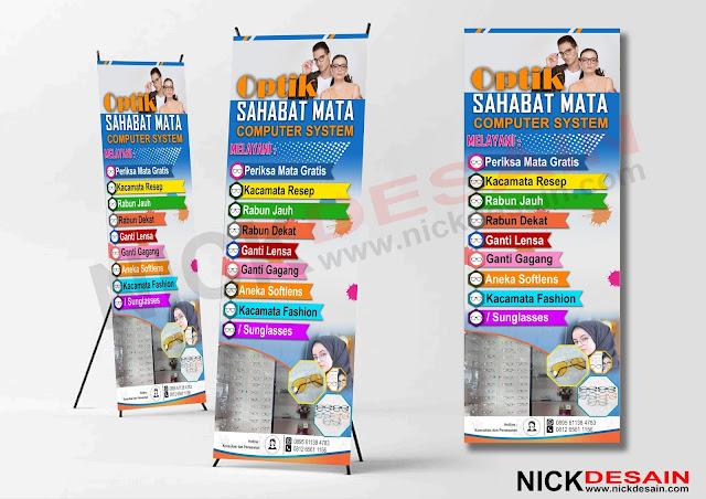 ntoh Desain Standing Banner Optik Keren | Percetakan Murah Tanjungbalai