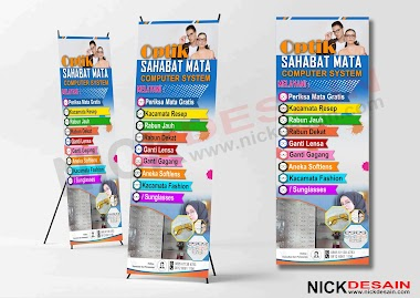 Contoh Desain Standing Banner Optik Keren | Percetakan Murah Tanjungbalai