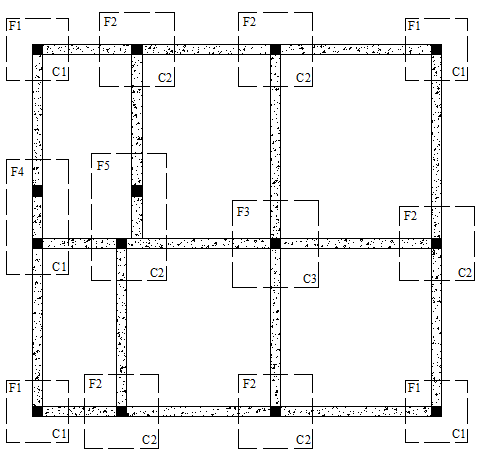 Architectural building working plans free dwg download for Foundation plan of a 2 storey house