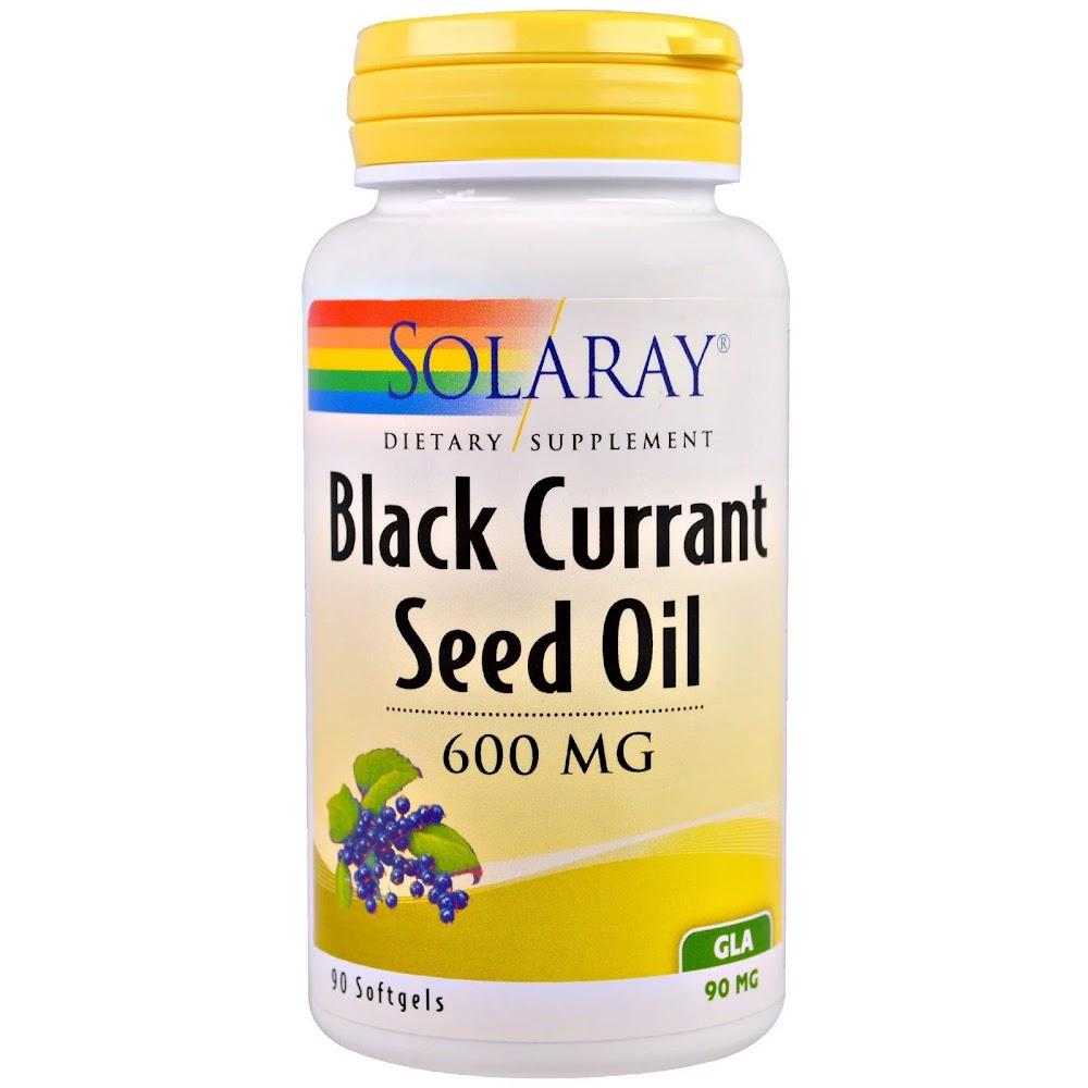 Solaray, Масло семян черной смородины, 600 мг, 90 капсул
