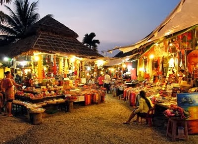 Cambodia Muslim Holiday & Travel, kemboja, night market siem riep