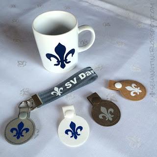 Lilien Tasse und Schlüsselanhänger