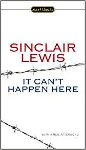 "October 2018's Book of the Month is ""It Can't Happen Here"""
