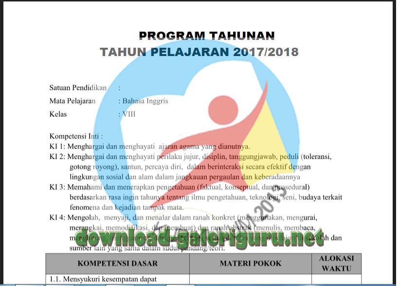 Prota Promes Smp Kelas Viii Kurikulum 2013 Download Galeriguru Net Data Administrasi Guru
