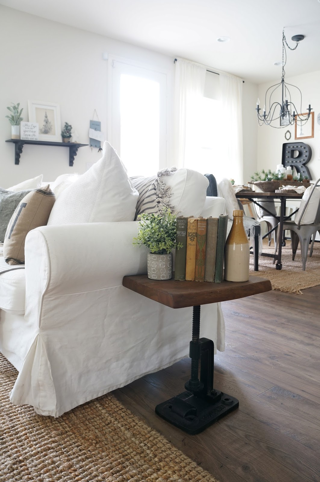 Winter Living Room Decorating Ideas: See My Simple Rustic Winter Dining Room HERE