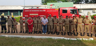 Dr. Neidson entrega kits de uniformes para Bombeiro Mirim de Guajará-Mirim