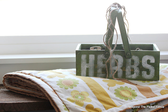 Stencil A Herb Starter Garden Box
