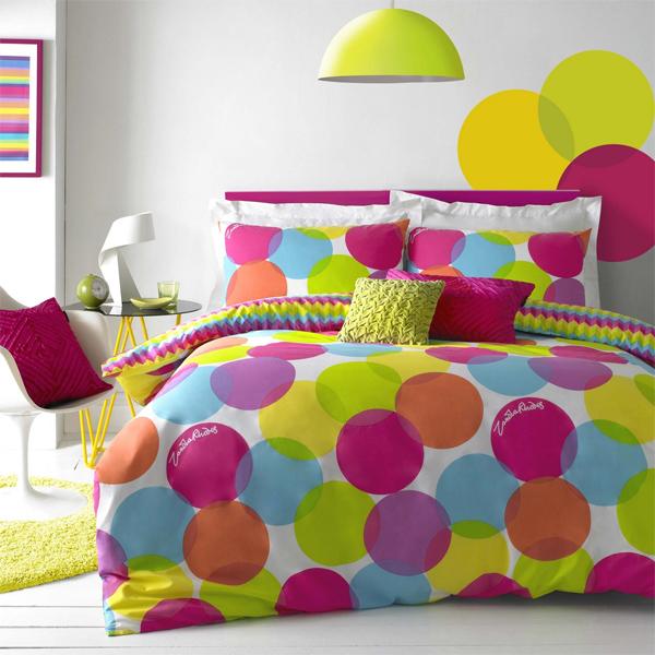 circles, patter, bedline, beddings, multicolor bedline,