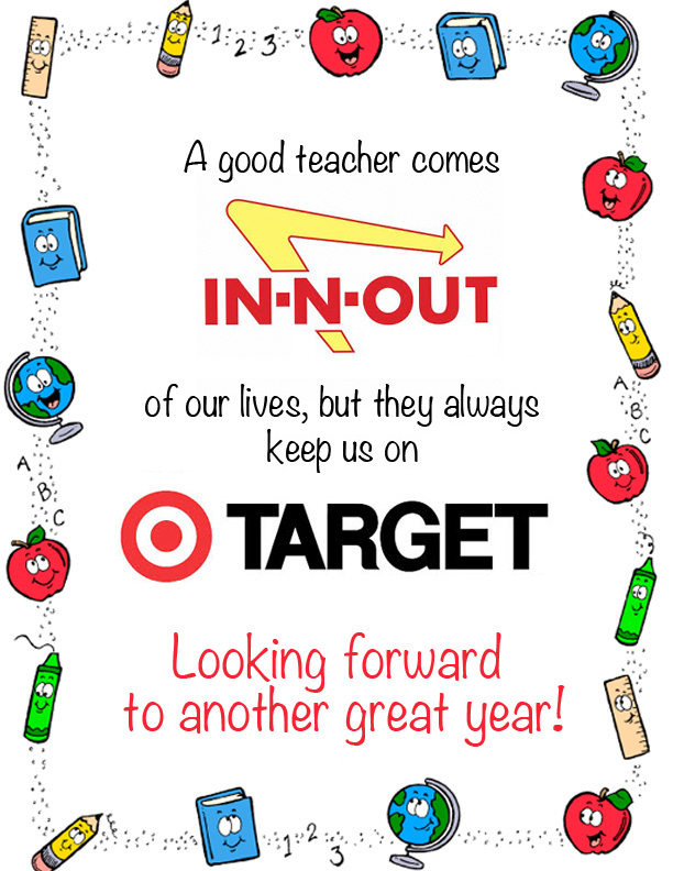graphic regarding Teacher Thank You Printable named Back again In the direction of Higher education! (Instructor Thank Oneself Printable) - The Kim 6 Maintenance