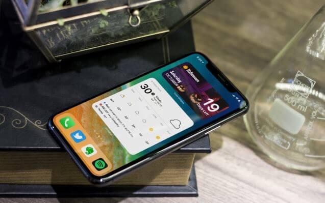 تطبيقات, للطقس, تقدم, تجربة, ثرية, لعناصر, واجهة, iOS, على, شاشة, أيفون, الرئيسية
