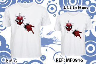 Tal Pai Tal Filho Camisetas Personalizadas Aranha