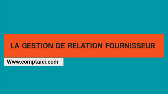 la Gestion de la relation Fournisseur PDF