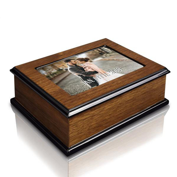 How to personalize a wooden musical jewelry box.